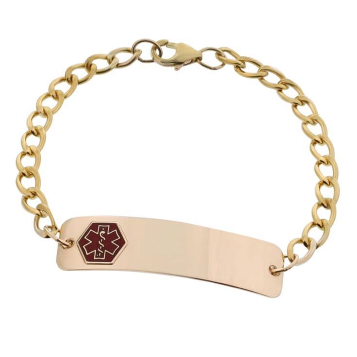 10ct Rolled Gold Classic Red Bracelet