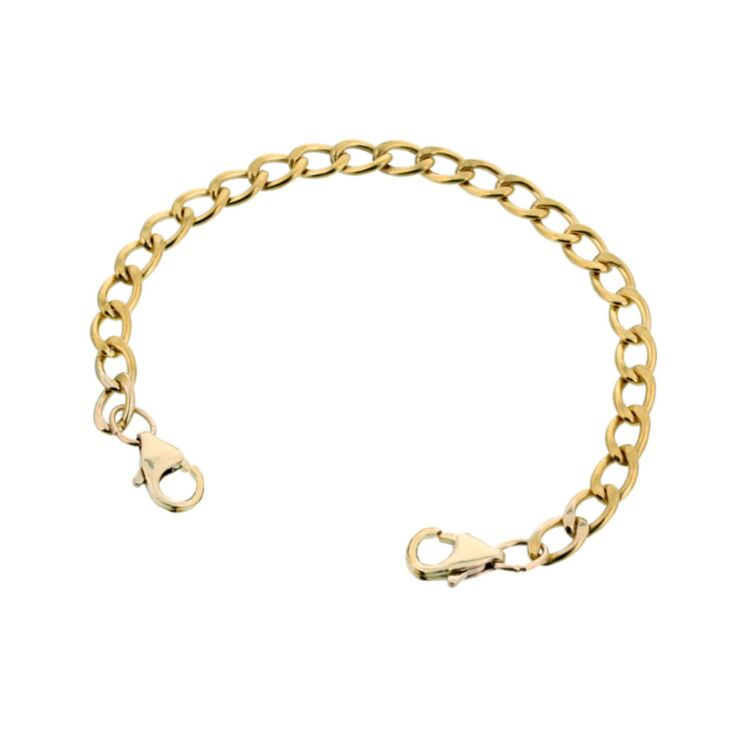 10ct Rolled Gold Mingle Curb Band