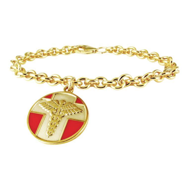 10ct Rolled Gold Vintage Charm Bracelet
